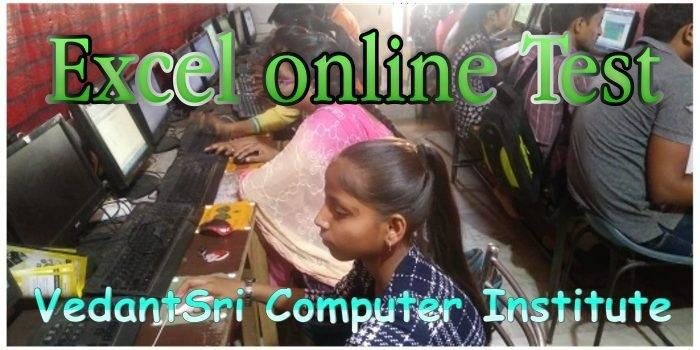 Excel 2019 online Test VedantSri
