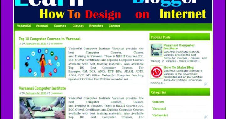 Design Blogger as Website
