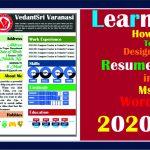 Ms Word Design Resume 2021