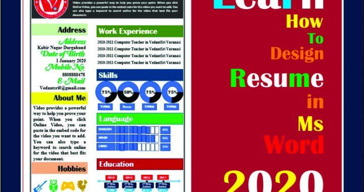 Ms Word Design Resume 2020