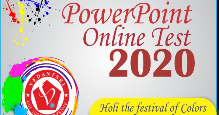 Happy Holi wishes in Varanasi VedantSri Computer Institute Offer 2020
